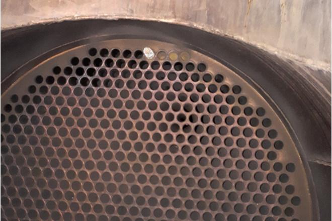 Csőköteges hőcserélő füstgáz oldali tisztítása