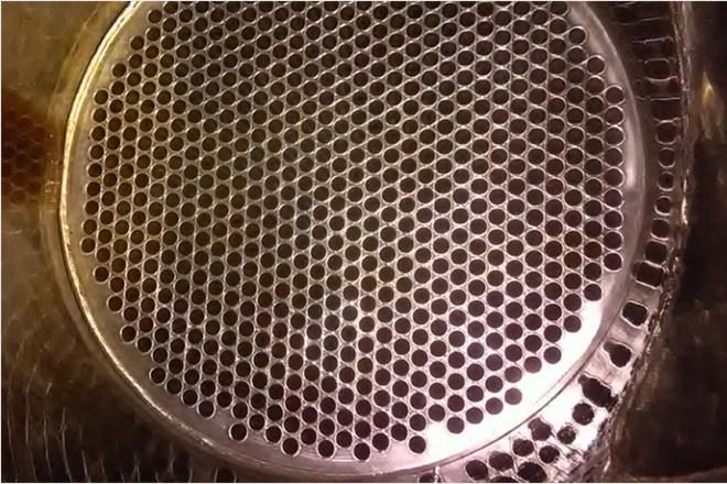 Csőköteges hőcserélő tisztítási munka