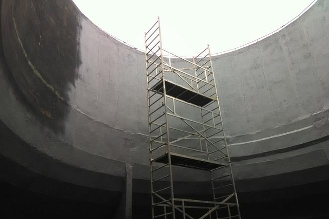 Nedves hűtőtorony felújítása - magas állvány