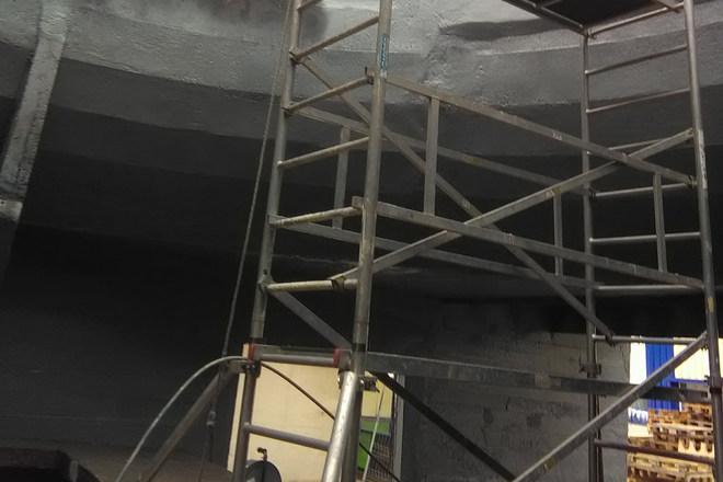 Nedves hűtőtorony felújítása - állvány