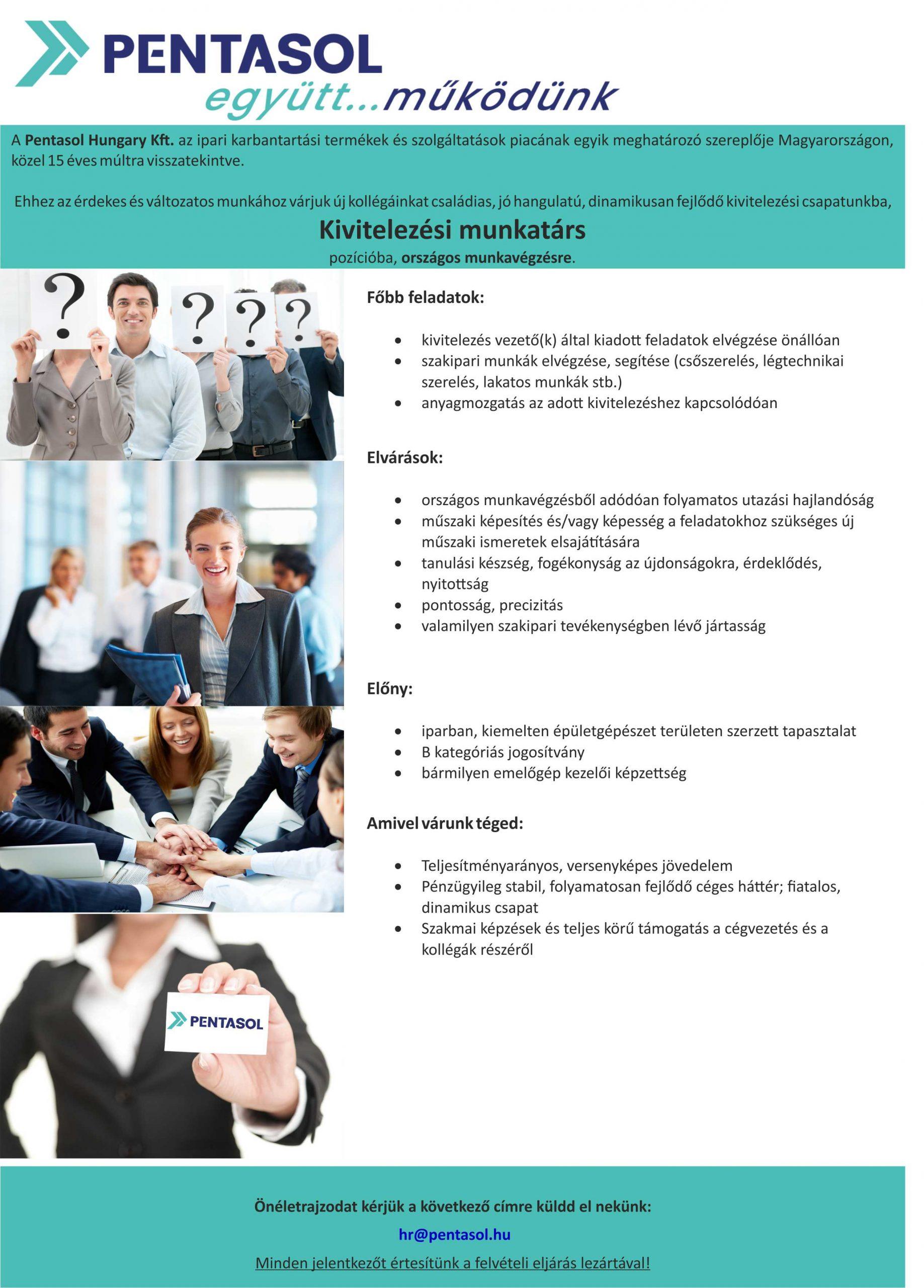 Kivitelezési munkatársat keresünk
